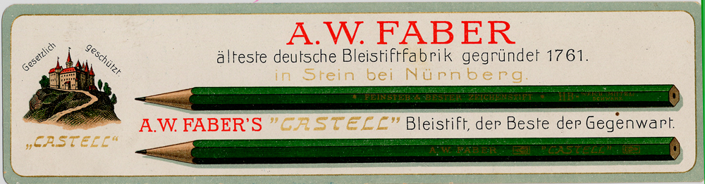 02.--Book-mark-with-Castell-9000-motif-from-1908