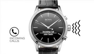 Smartwatch Hugo Boss con notificaciones y alertas