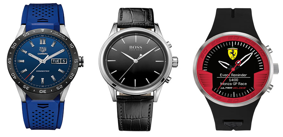TAG Heuer Connected, Hugo Boss y Ferrari smartwatches