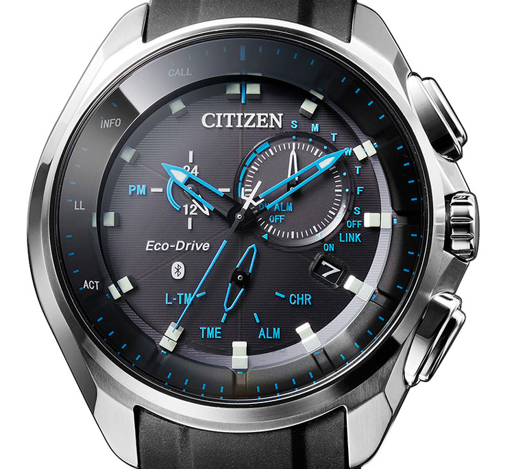 Reloj masculino citizen conectado con eco drive y bluetooth for Relojes de salon modernos