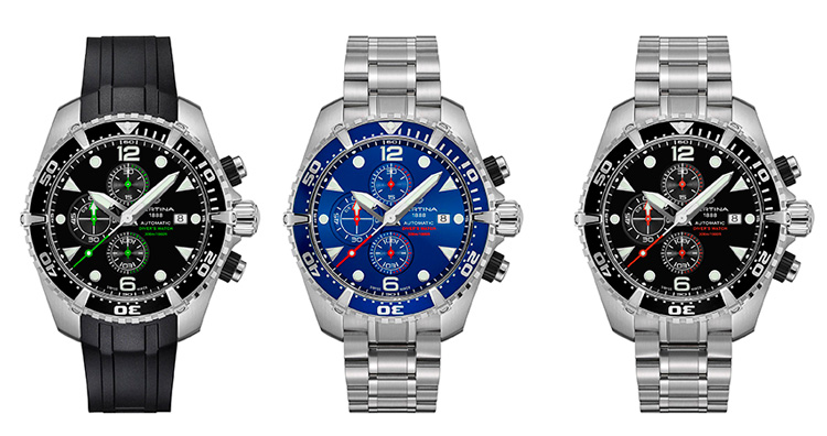 Certina DS Action Diver Chronograph familia