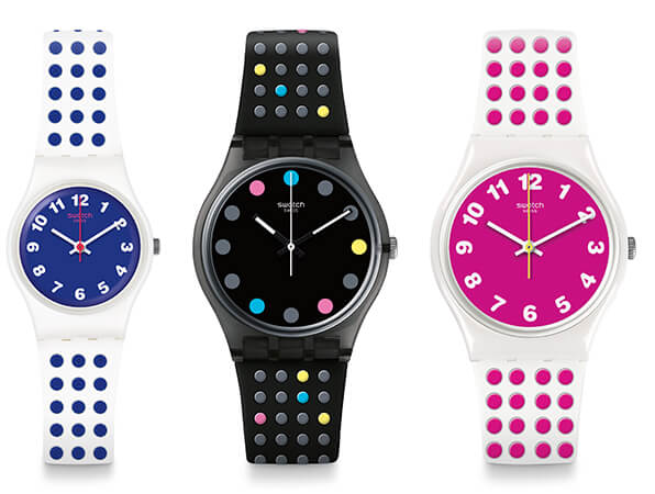 The Swatch Vibe: Bluedots, Boule a Facette y Pinkdots