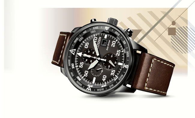 Relojes Citizen OF Eco Drive Chrono Aviator CA0695 IP Black