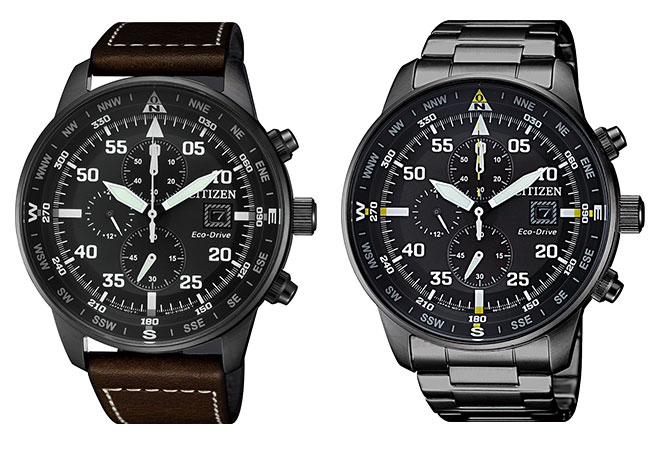Relojes Citizen OF Eco Drive Chrono Aviator IP Black