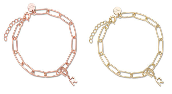 Brazaletes oro rosa y amarillo Rosefield Downtown Chic Chain