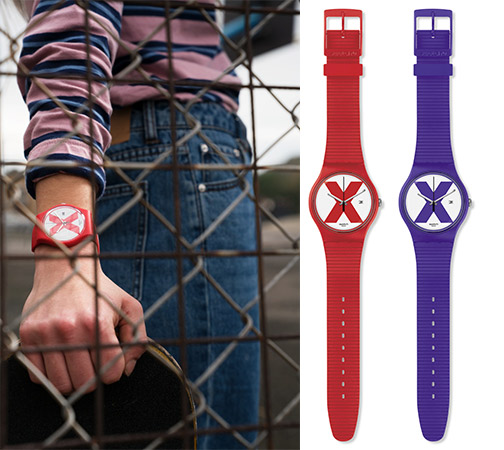 Relojes Swatch The X-Vibe XX-Rated Red y Purple